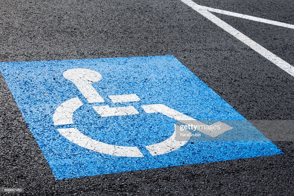 Blue handicapped parking spot