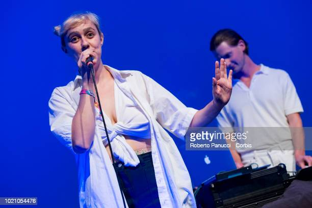 Blue Hawaii perform on stage during Ypsigrock Festival on August 10 2018 in Castelbuono Palermo Italy