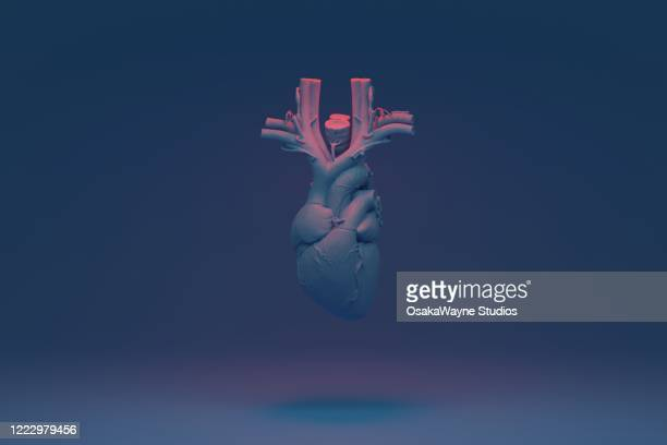blue heart - blood flow stock pictures, royalty-free photos & images