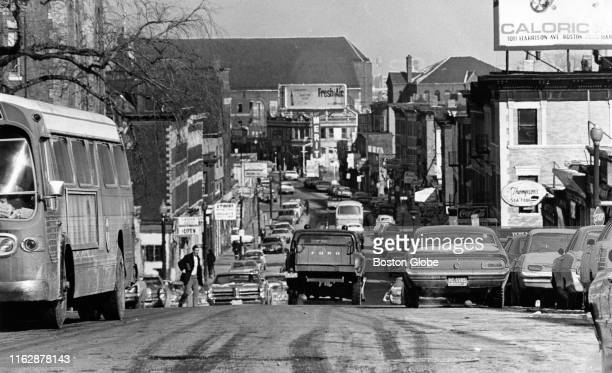 Blue Hill Ave. Near Roxbury in Boston, MA is photographed on Feb. 5, 1970.