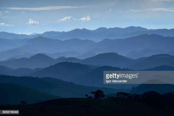 Blue hills, Serra da Beleza Mountains, Rio de Janeiro State, Brazil