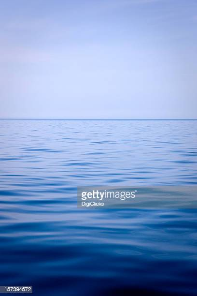 Blue horizon over a calm deep blue sea