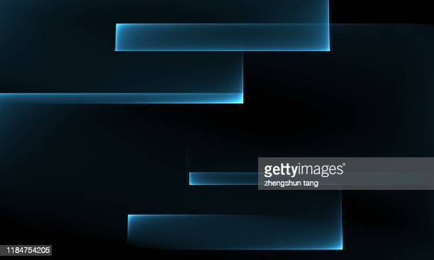 blue horizontal geometric pattern on dark blue background - rectangle stock pictures, royalty-free photos & images
