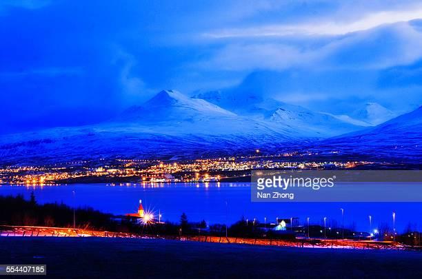 Blue hour Akureyri