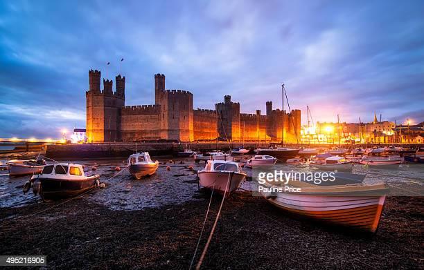 Blue Hour at Caernarfon Castle, North Wales