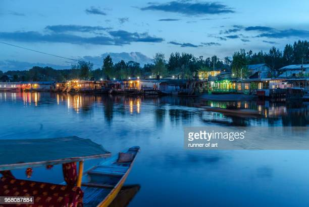 Blue hour at Dal Lake