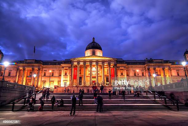 CONTENT] Blue Hour at the National Gallery Trafalgar Square London England