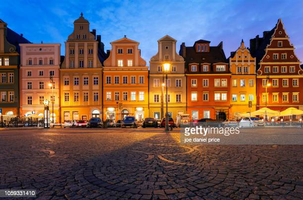 Blue Hour, Beautiful Houses, Wroclaw, Poland