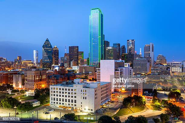 Blue Hour, Dallas, Skyline, Texas, America