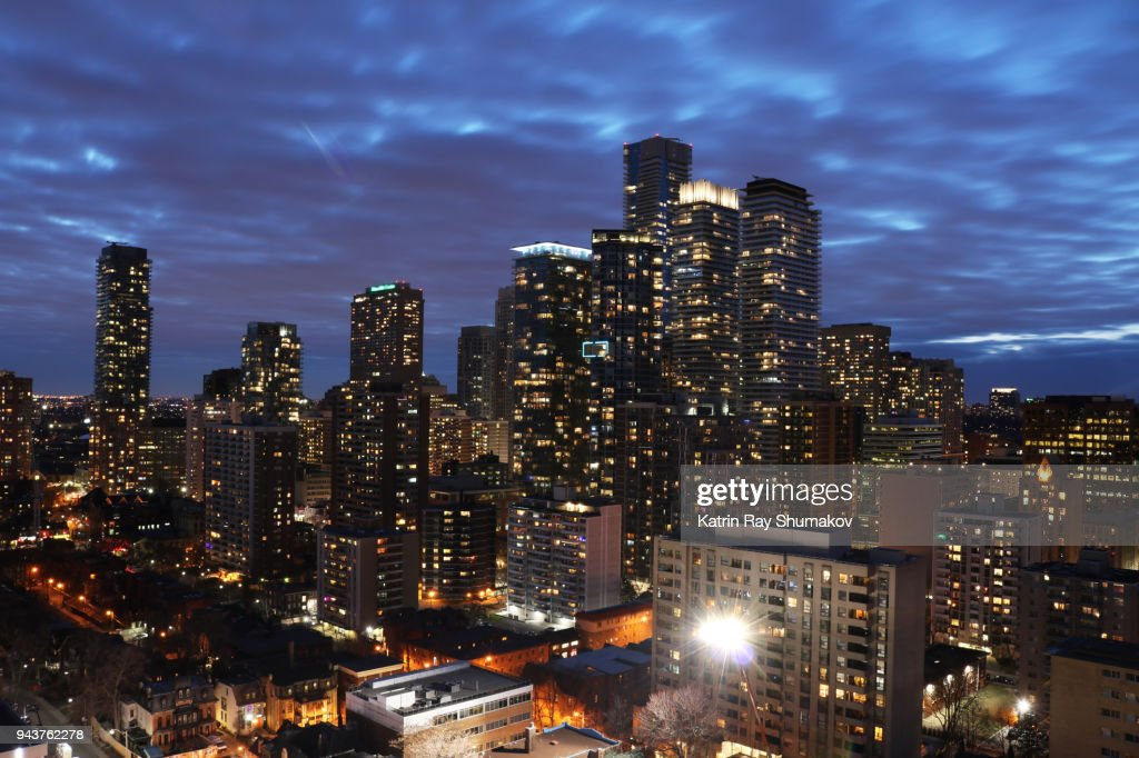 Blue Hour Dreams of Big City : Stock Photo