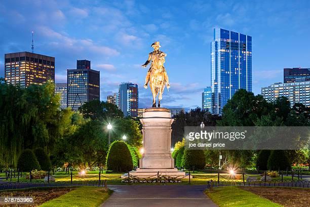 Blue Hour, George Washington Statue, Boston Public Garden, Boston, Massachusetts, America