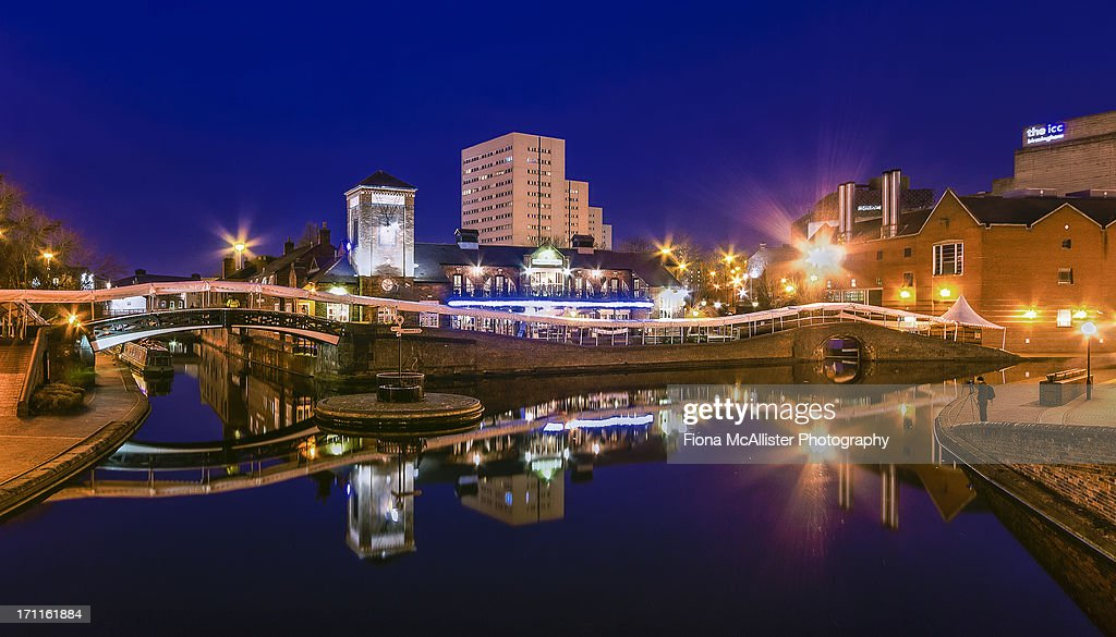 Blue Hour in Birmingham : Stock Photo