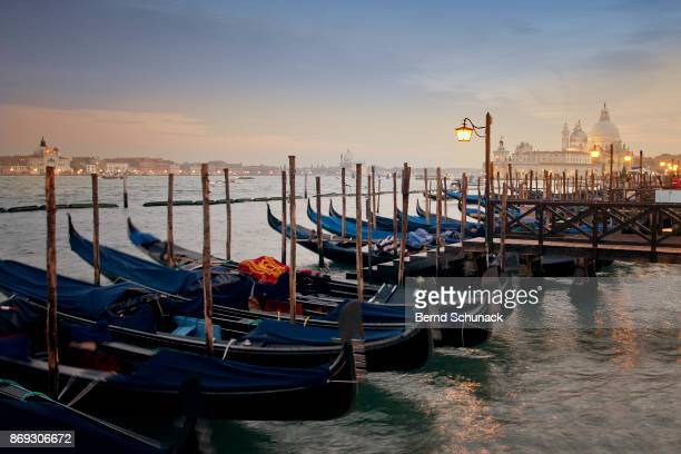 blue hour in venice - bernd schunack stock photos and pictures