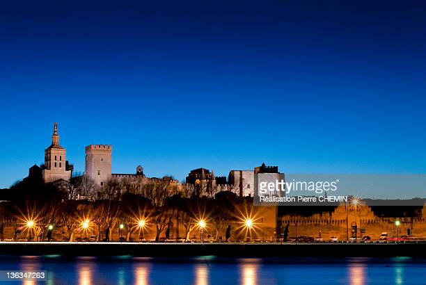 Blue hour on Palace of Popes ,Avignon