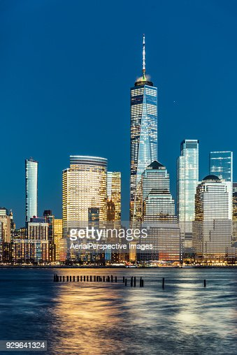 Blue hour over Manhattan and Skyscraper