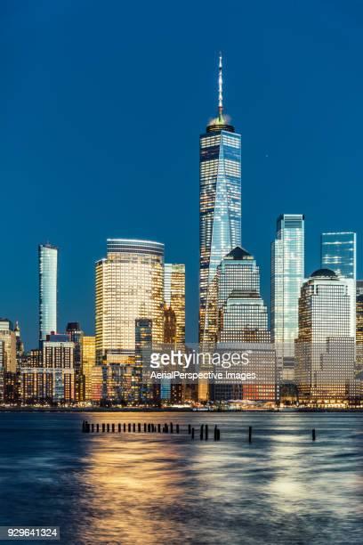Blue hour over Manhattan and Skyscraper