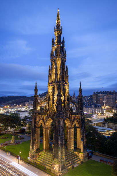 Blue Hour, Scott Monument, Edinburgh, Scotland