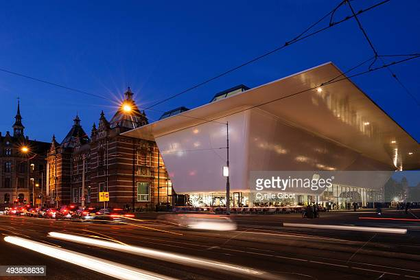 CONTENT] Blue hour shot of the Stedelijk Museum a museum of modern and contemporary art in Amsterdam Netherlands