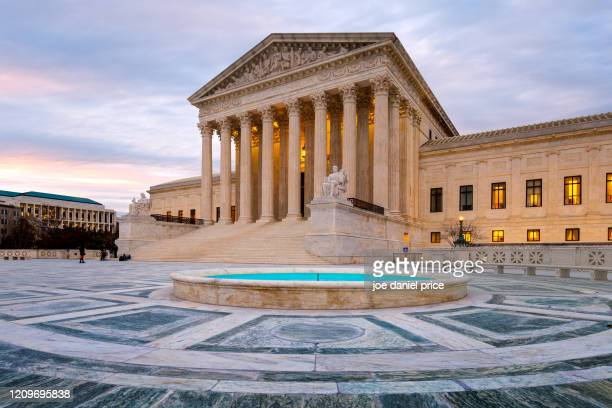 blue hour, united states supreme court building, washington dc, america - supreme court stock pictures, royalty-free photos & images