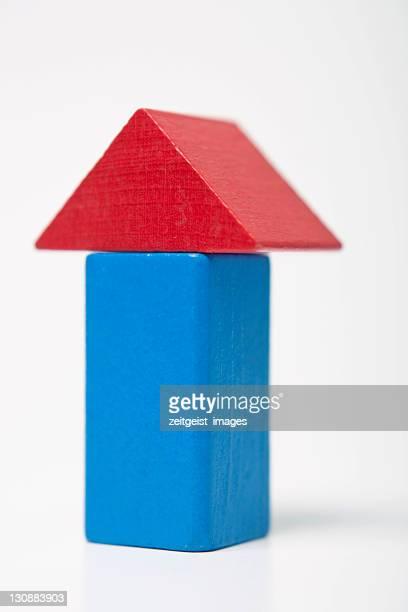 Blue house, made of building bricks