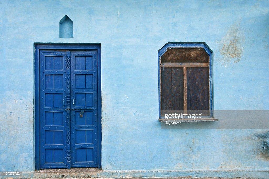 Blue house : Stock Photo