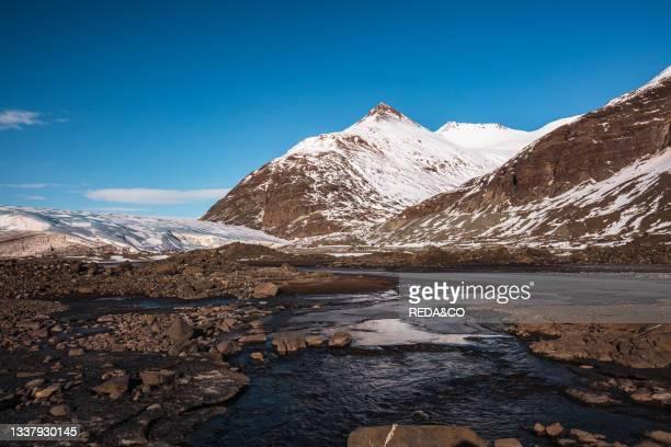 Blue ice caves in Jškuls‡rl—n glacier. Iceland. North Atlantic Ocean.