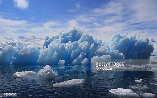 Blue ice in Cierva Cove