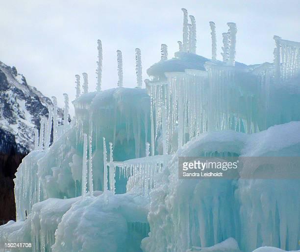 Blue ice sculpture
