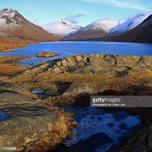 blue ice wastwater - cockermouth stock pictures, royalty-free photos & images
