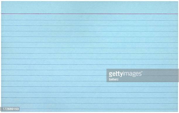 ブルーの索引カード - インデックスカード ストックフォトと画像