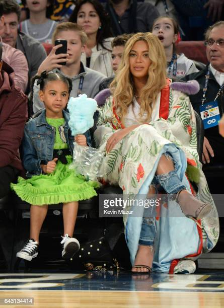 171d649ef7c Blue Ivy Carter and Beyonce Knowles attend the 66th NBA AllStar Game at  Smoothie King Center