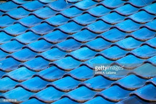Blue Japanese roof tiles