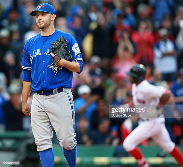 Blue Jays starting pitcher Marco Estrada took a no hitter into the bottom of the eighth inning but the Red Sox Chris Young ruined his no hit bid as...