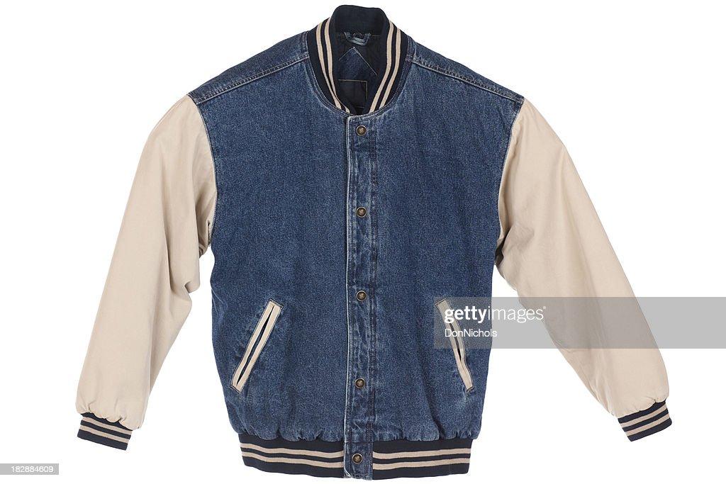 Blue Jean Jacket Isolated : Stock Photo