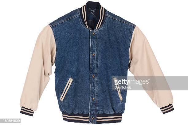 Blue Jean Jacket Isolated