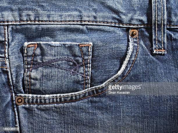 Blue jean pocket detail