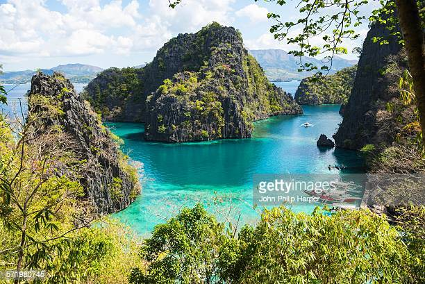 blue lagoon, palawan, philippines - palawan stock pictures, royalty-free photos & images