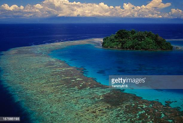 blue lagoon - papua new guinea stock pictures, royalty-free photos & images