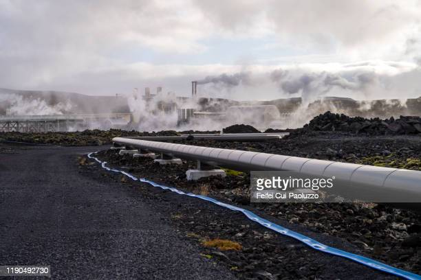 blue lagoon thermal power station, iceland - geology stock pictures, royalty-free photos & images