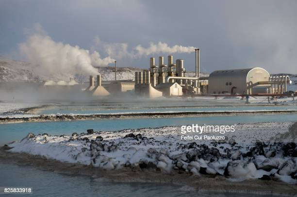 blue lagoon thermal power station, iceland - hot spring stock pictures, royalty-free photos & images