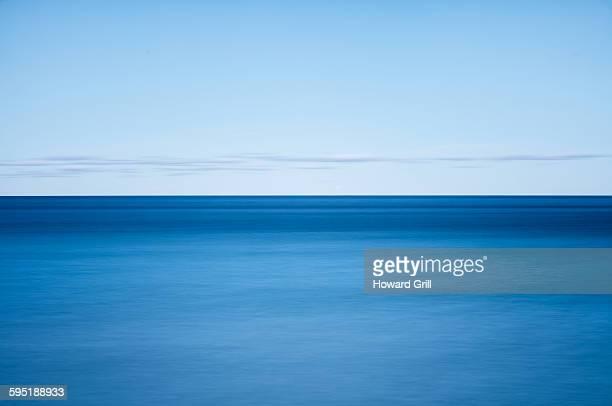 Blue lake abstract