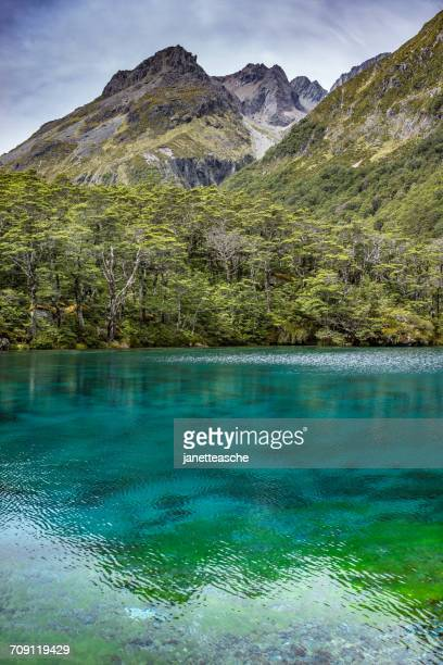 Blue Lake and Franklin Range, Nelson Lakes National Park, New Zealand