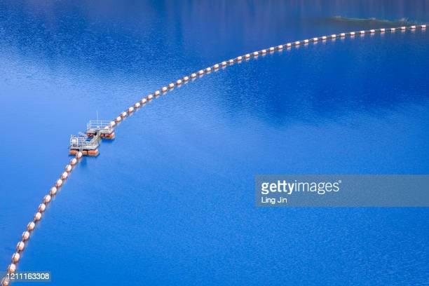 blue lake in shima lake dam - ダム ストックフォトと画像