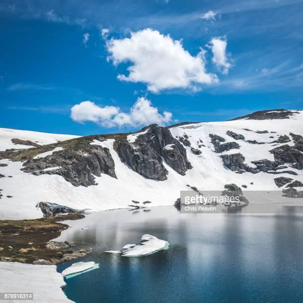 Blue lake in the Australian Alps