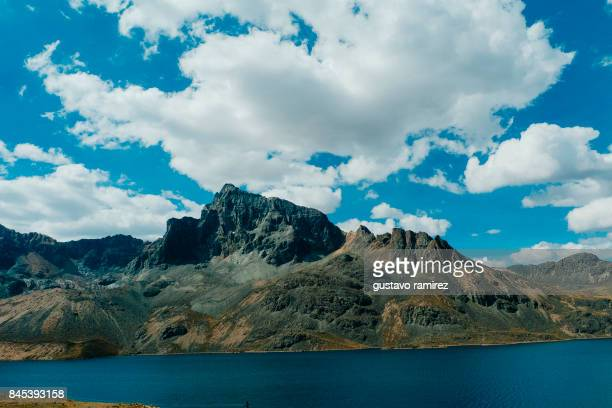 blue lake - wide shot stock pictures, royalty-free photos & images