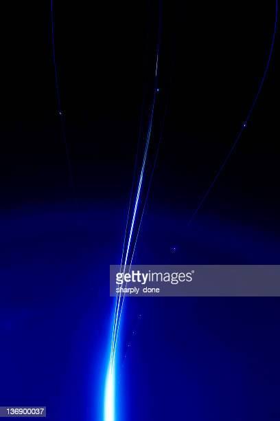 Bleu lumières laser
