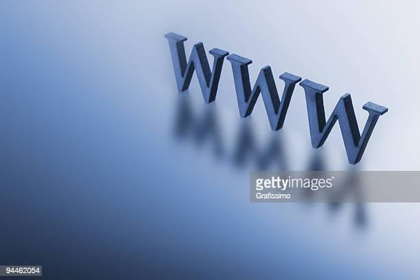 Blue letters www