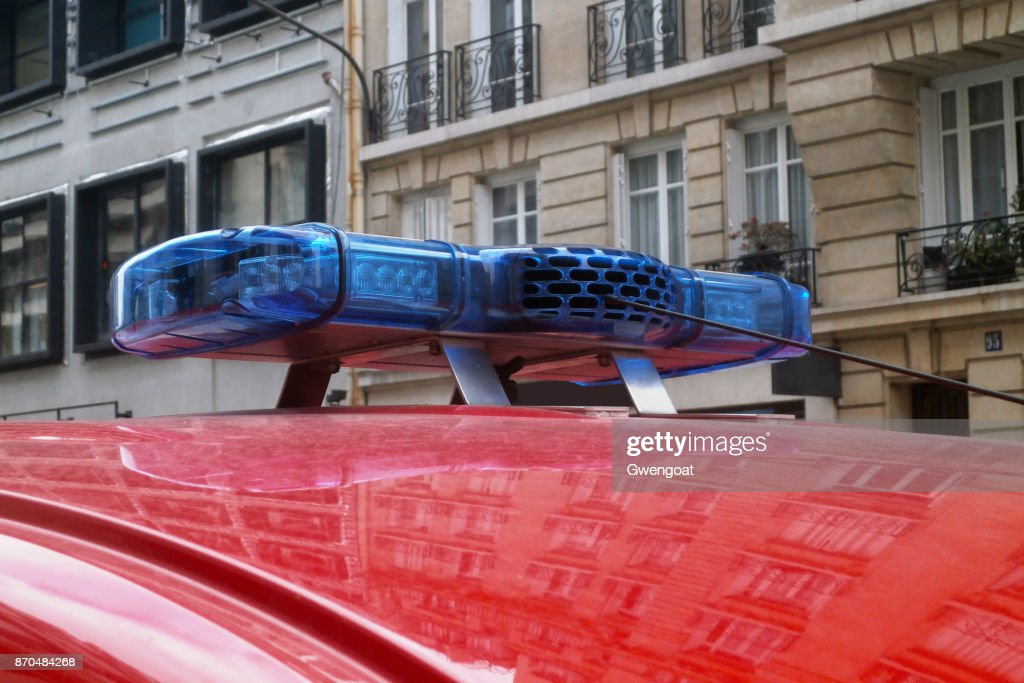 Blue Lights And Siren Of A Fire Truck Stock Photo Getty Images