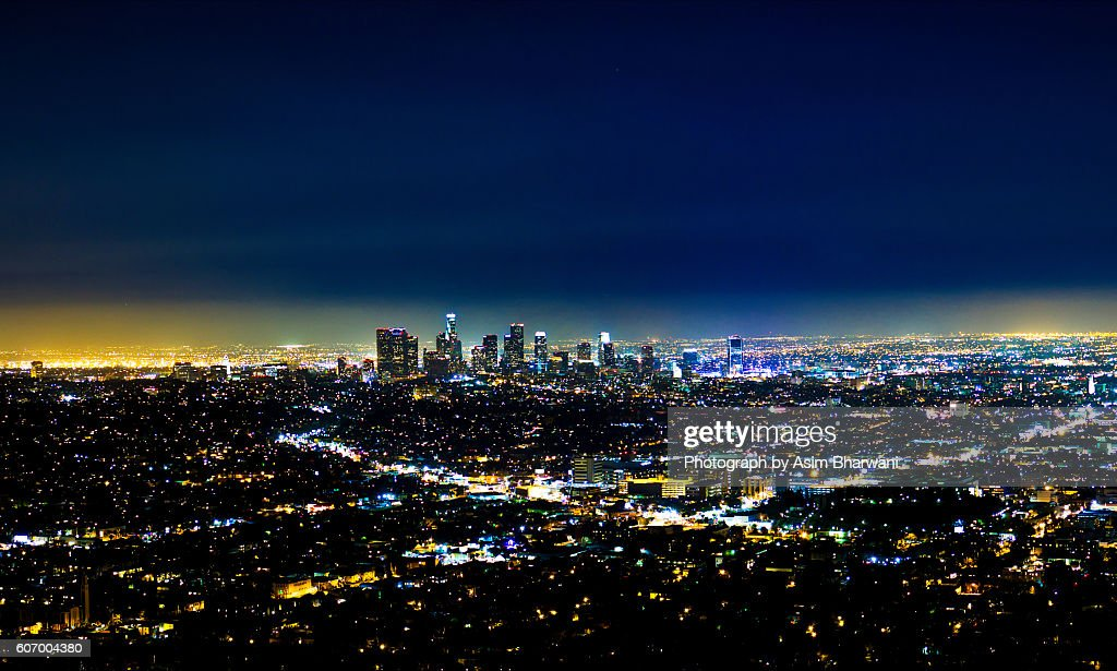A Blue Los Angeles : Stock Photo