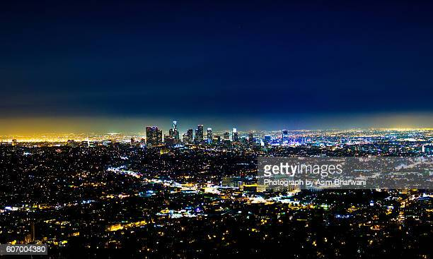 a blue los angeles - hollywood california stock pictures, royalty-free photos & images